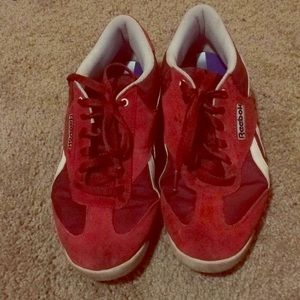 Red hot Reebok's! With ortholite for added comfort